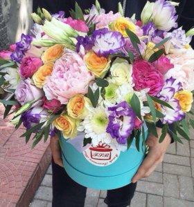 Цветы в коробках (Розы)