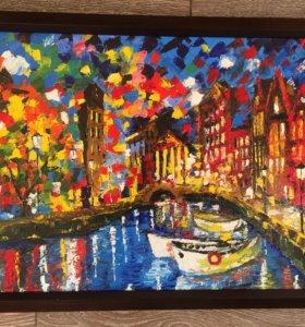 """Картина """"Венеция ночью"""""""