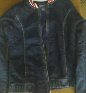 Джинсовая куртка.Пиджак джинсовый