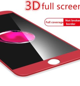 3D стекло на iPhone 6/6plus7/7plus красные