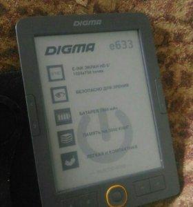 Новая электронная книга digma e633 + чехол