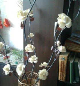 Декоративные цветы для напольной вазы