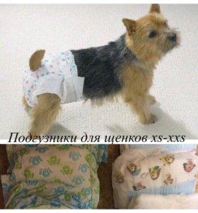 Подгузники для собак мини