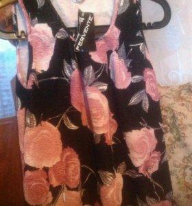 Платье-туника миди,новое