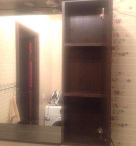 Тумба с раковиной и зеркало со шкафчиком в ванную