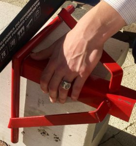 Прибор угловой резки для газобетонных блоков