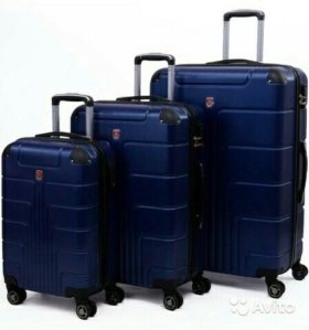 Пластиковый чемодан Luyida темно-синий L, Шоу-Рум