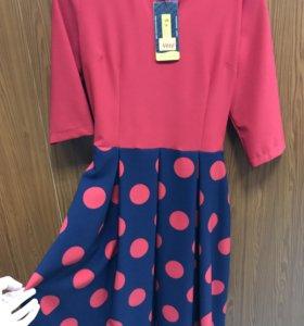 Платье в горошек (новое)
