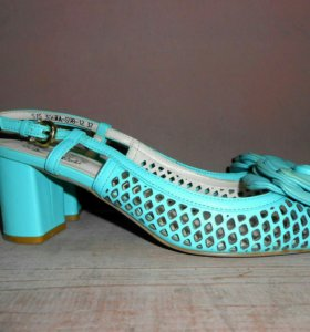 Бирюзовые кожаные туфли Mabellе