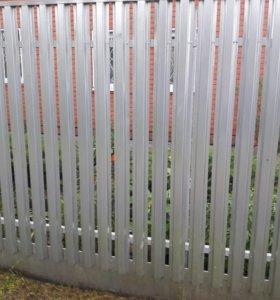 Забор-штакетник оцинкованный
