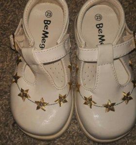 Туфли новые 23 размер 14.5 см
