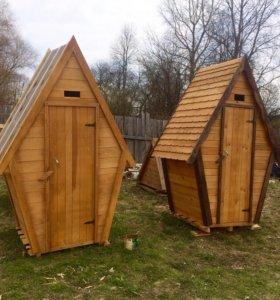 Туалет дачный домиком ,биотуалет.