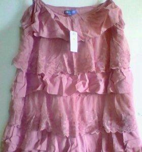 Сарафан платье 48 хлопок новый