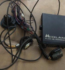 Рация с антенной midland Alan 78 cb transceiver