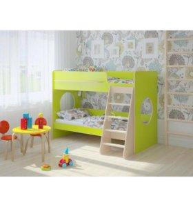 Кровать детская двухъярусная мебель