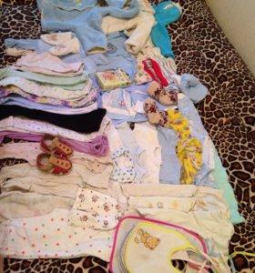 Пакет вещей на мальчика 3-12 месяцев.