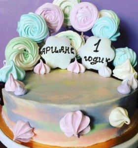 Домашние тортики ручной работы. На заказ