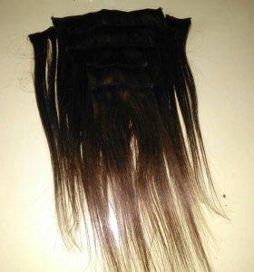 Волосы натуральные на заколках!!