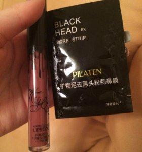 Жидкая помада Kylie (maliboo)+черная маска