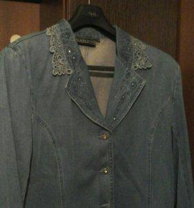Джинсовый костюм, р-р.48-50