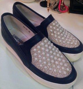 Слипоны, ботинки на платформе
