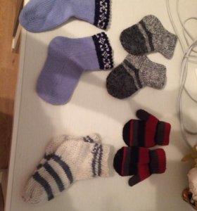 Варежки носочки