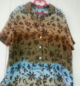 Блузка большой размер рубашка градиент