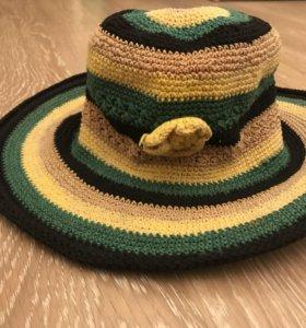 Вязаная панама шляпа