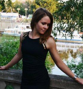 Платье Moxito черное с золотом