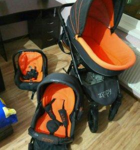 Детская коляска zippy 3в 1