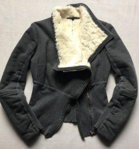 Куртка толстовка с искусственным мехом