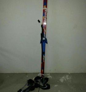 Лыжи с ботинками 34р. и палками