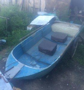 Лодка казанка, алюминиевая