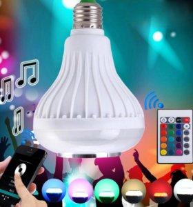 RGB лампочка с МУЗЫКОЙ под смартфон с пультом