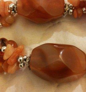 Ожерелье из нат.камня
