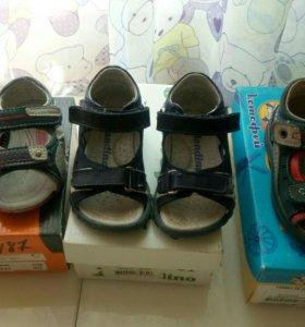Кожанные сандали (босоножки) . Ортопедические.
