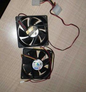 2 вентилятора 80мм