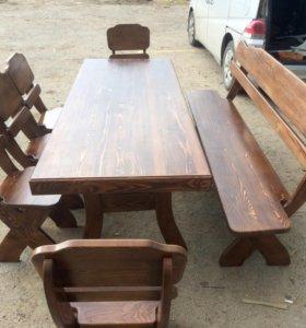 Комплект дачной мебели Viking,стол 2,1,лавка 6 сту