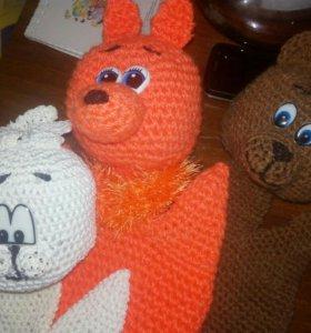Вязаные кукольные и пальчиковые игрушки на заказ
