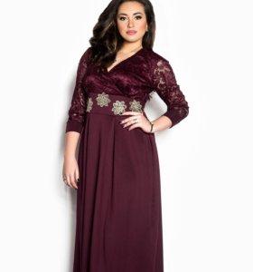 Новое вечернее платье р 52