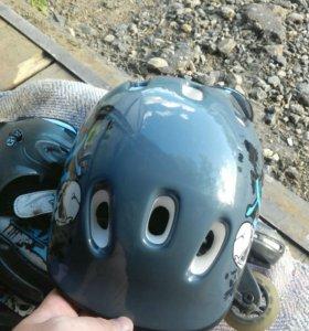 Ролики раздвежные для мальчика. (Р 34-37 ).и шлем.