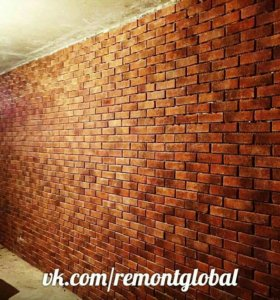 Облицовка стен декоративным камнем....
