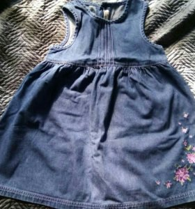 Джинсовое платье 2-4 года