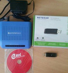 Модем Интеркросс 5633 E + wifi адаптер