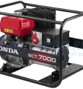 бензиновый генератор Honda ECT 7000, 220 в 380в