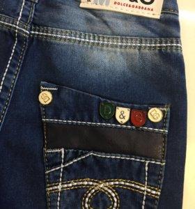 Новые брендовые джинсы D&G на 2-3г