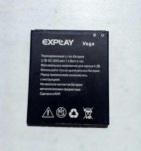 Аккумулятор на Explay vega