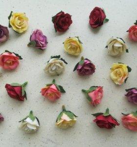 Цветы розочки 3 см декор и скрапбукинг