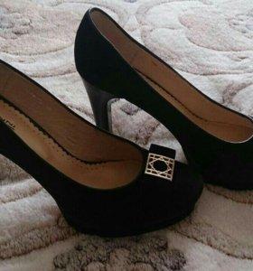 Туфли женские, натуральная кожа, замша, размер 38