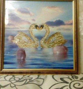 Картина в технике алмазная вышивка